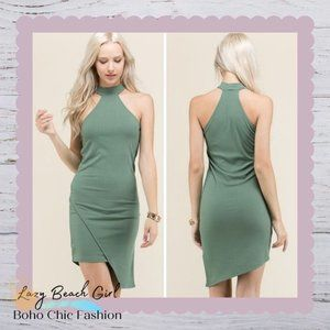 Mock Neck Racer Back Dress